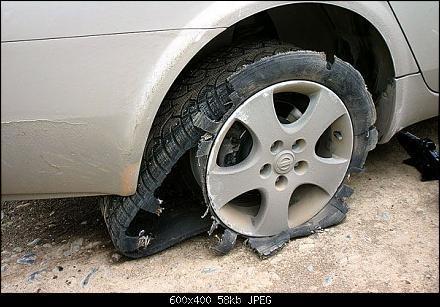 лопнувшая шины