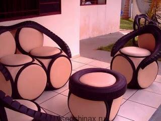 мебель для загородного дома из шин