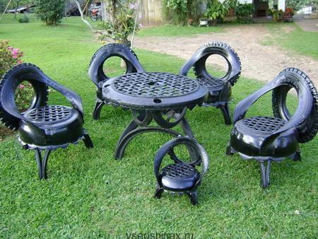 садовой набор из шин