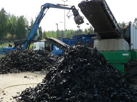 утилизация шин в Финляндий
