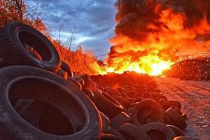 вред от горение шин