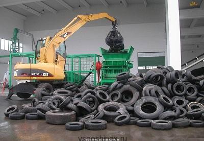 Утилизация шин в Донецке