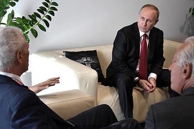Путин на встрече с Пирелли