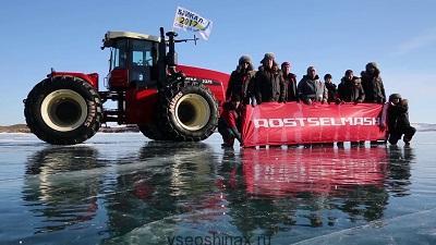 Трактор Росельмашь на Байкале