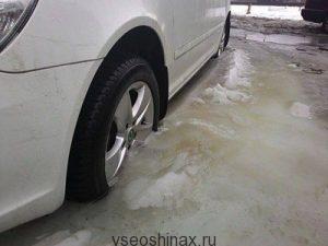 Колеса вмерзли в лед! Что делать?